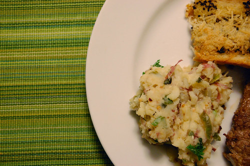Greek Pot-Crushed Potatoes & Lynne's Retro Garlic Bread