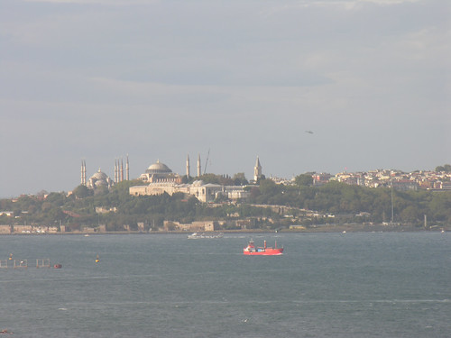 Istanbul view from the Bosporus Bridge