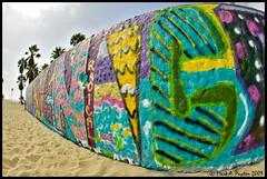 Venice Beach Graffiti Pit (Mark Payton Photography) Tags: california beach canon eos graffiti sand wideangle fisheye venicebeach 1ds graffitipit markpayton canon15mmf28 missoulaphotographer fisheyelenscanon15mmf4canonef15mmf4wideangle markpaytonphotography