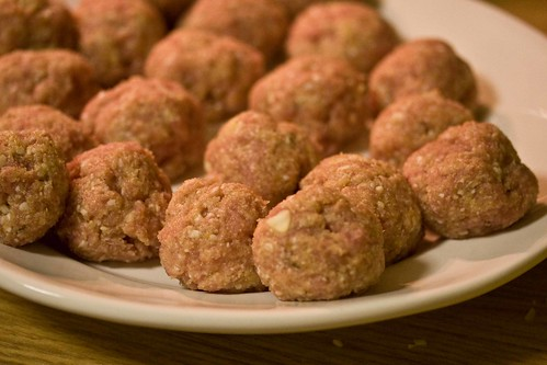 plate of turkey meatballs