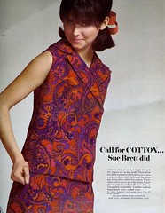 Call for cotton (sugarpie honeybunch) Tags: magazine 60s ad cotton 1960s paisley seventeen