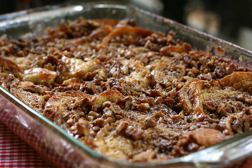 Baked French Toast with Praline Streusel