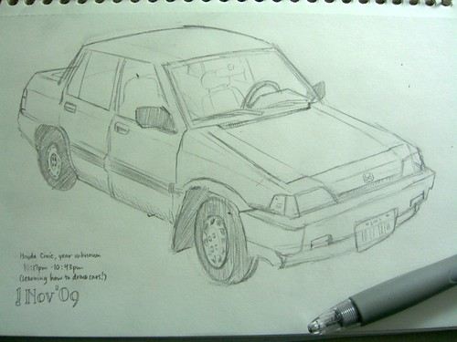 Honda Civic sketch