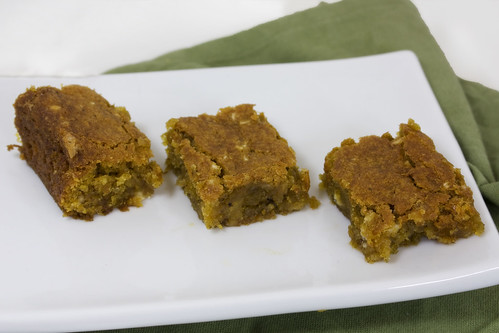 Plate Ginger Pumpkin Blondies