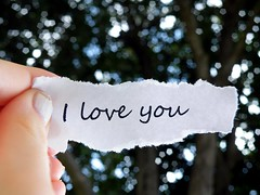 I love you (Taylor+Stevens) Tags: white black macro tree green love paper you bokeh finger small nail letters polish picnik edges typed teared