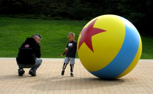 Carl and Gabriel and the Pixar ball
