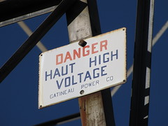 DANGER Haut High Voltage