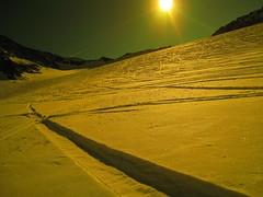 Snow trails (KapcieBabci) Tags: light shadow sky sun snow ski green trails trail moutain showboard snowtrail snowtrails