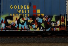 Golden Spray (All Seeing) Tags: graffiti spray safari drugs dfw orfn allseeing bkf goldenwestservice vear nemel