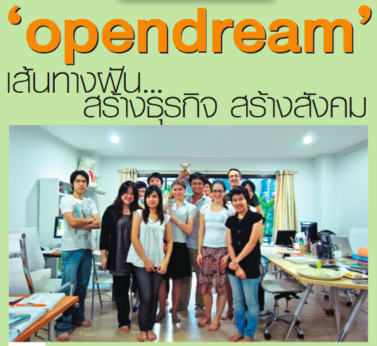 Opendream on Bangkok Biz News' B4P