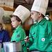 Koken met de welpen