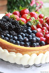 Ricotta Cheesecake with Berries (Marcelo Monser) Tags: cheese postre de dessert cheesecake queijo bolo ricotta sobremesa feitoemcasa redfruits hechoencasa ricota madeathome frutasvermelhas marcelomonser chefmonser