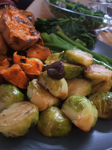 cherry balsamic brussels.