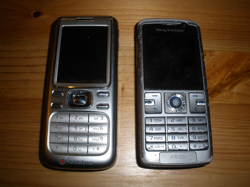 H's new and old phone