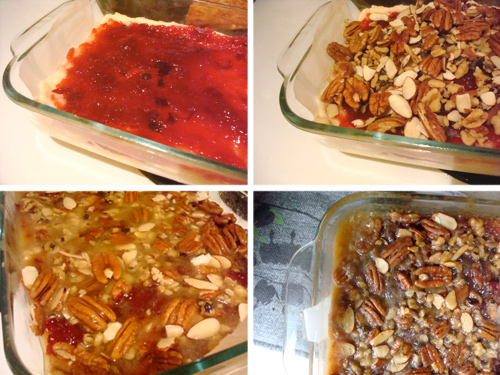 Thanksgiving Leftover Cranberry nut Squares for Serious Eats