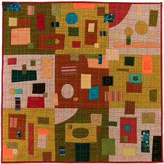 Work Quilt (BooDilly's) Tags: inspiration art quilt embroidery textile fabric quilting patchwork applique handstitching photographia chambray shotcotton sillyboodilly victoriagertenbach travelsofhomerodyssey workquilt