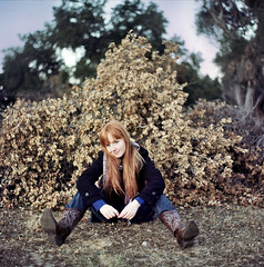 Caitlin at the Ranch (laurenlemon) Tags: 6x6 tlr film rolleiflex mediumformat caitlin cowboyboots hinthint kodakportra160nc christmasiscoming laurenrandolph caitlinrandolph laurenlemon mountainlionranch filmisexpensivethough anyonewanttobuymesomerolls wwwphotolaurencom