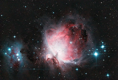 Orion Nebula (M42)  2 hours worth (zAmb0ni) Tags: sky man night stars long exposure running telescope nebula astrophotography orion m42 astronomy
