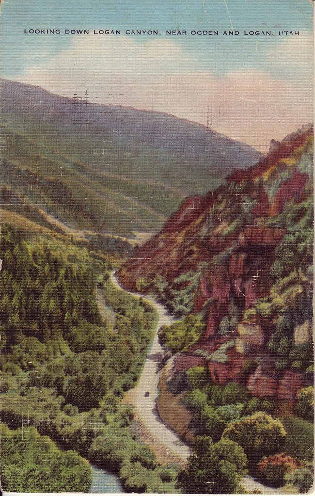 Postcard of the Week: Logan Canyon 1943 by LauraMoncur from Flickr