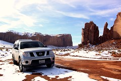 Truck Commercial (TroyMcclure!) Tags: snow truck silver nissan mud monumentvalley nissanfrontier reddirtroad mossynissan