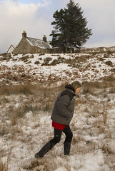 Strathy_Scotland_30 (jjay69) Tags: uk winter england snow cold ice scotland highlands frost britain cottage freezing lodge croft sutherland wellies rubberboots waterproof chistmas rockfish strathy northernscotland womaninwellies
