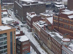 Birmingham in snow | John Bright Street (AY Stock) Tags: city winter england snow weather skyline birmingham snowfall citycentre westmidlands brum johnbrightstreet orionbuilding