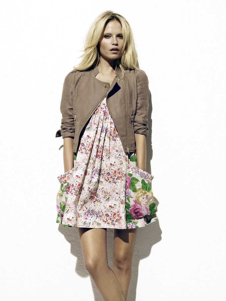 hm floral dress and jacket