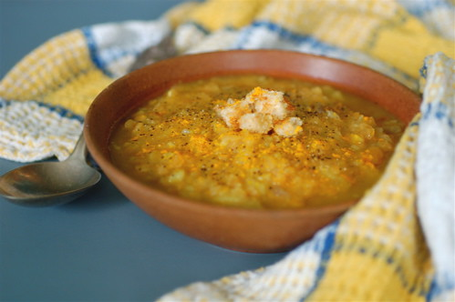 bbq lentil and baked sweet potato soup