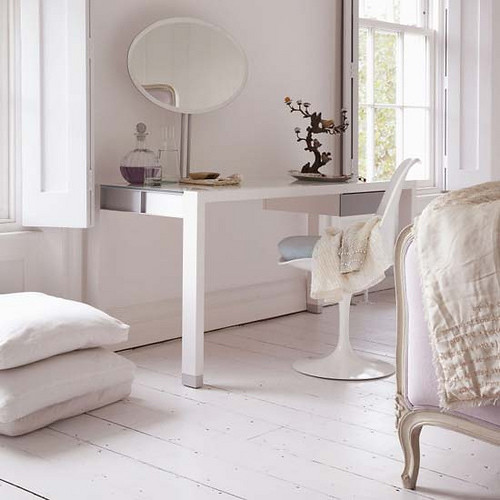 all white room