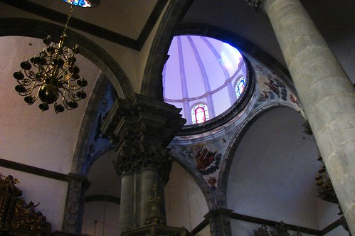 Looking up in the Church of the Conception