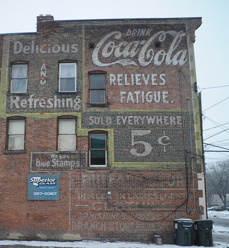 Coca-Cola Relieves Fatigue, 412 Broadway, Schenectady.  Photo by Chuck Miller.