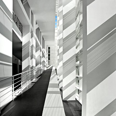 Spain - Barcelona - MACBA - Ramps 04 - sq v4 (Darrell Godliman) Tags: barcelona travel copyright espaa building travelling tourism museum architecture buildings spain arquitectura ramp europe barca shadows artgallery squares contemporaryart bcn perspective modernism eu ramps catalonia squareformat architektur catalunya artmuseum richardmeier macba elraval sq modernarchitecture architettura meier allrightsreserved architectuur raval mimari architecturalphotography catalogne ciutatvella contemporaryarchitecture travelphotography bsquare museudartcontemporanidebarcelona instantfave omot  travelphotographer richardmeierpartners flickrelite dgphotos darrellgodliman wwwdgphotoscouk barcelonamuseumofcontemporaryart architecturalphotographer plaadelsngels circulationspace kwadratsquare 2009dgodliman spainbarcelonamacbaramps04sqv4