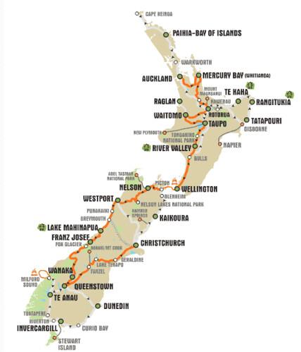 Recorrido NZ