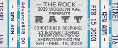 02/15/03 Ratt/Conditioned Response @ Maplewood, MN (Ticket)
