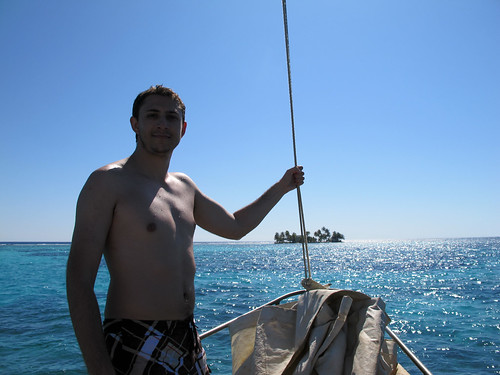 Alex Berger while Sailing in Belize
