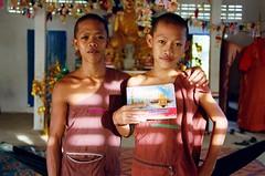 (R_x - renee barron) Tags: boy 2 two portrait color colour film boys book holding interior young monk monks rx reneebarron