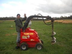 008dad on the tractor