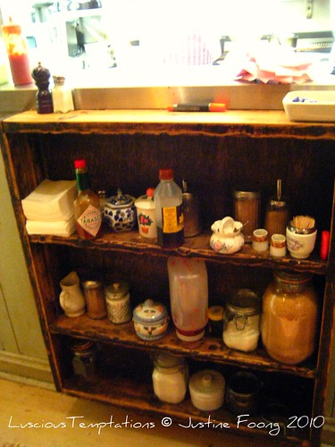 Condiments Shelf - The Garrison, Bermondsey Street