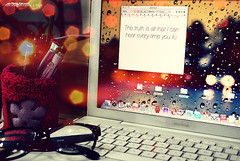 Day 108: Every time you lie (Cerisse ) Tags: desktop glasses lyrics mac nikon bokeh laptop d60 project365 demilovato
