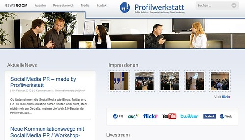 Profilwerkstatt - Social Media Newsroom