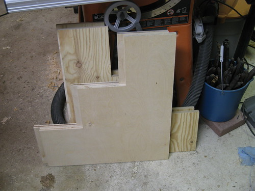plywood shelving sides