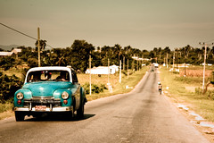 leaving vinales (flamed) Tags: travel vintage classiccar country cuba roadtrip 1950s cinematic pinardelrio
