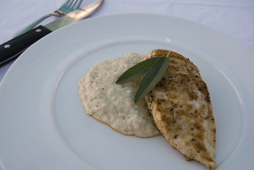 chicken and cannelini bean puree