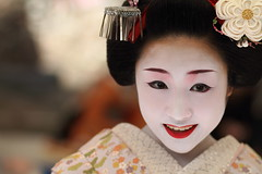 Canon 7d (momoyama) Tags: travel portrait people girl smile festival canon asia maiko 7d