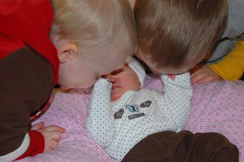 Kisses for sister