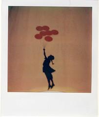 Banksy in my bedroom (almogaver) Tags: film analog polaroid sx70 banksy instant catalunya portbou polaroidsx70 almogaver