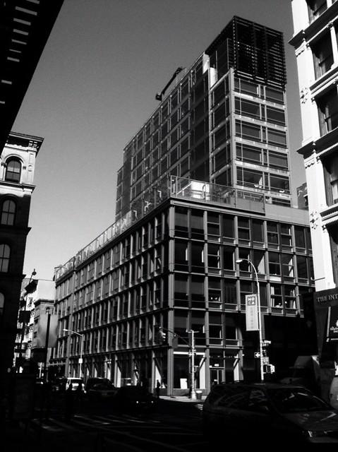 one of my fav. buildings in soho #walkingtoworktoday