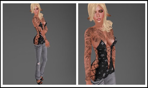 tattoos: aitui – trippy. *outfit* dress: luck inc – tease dress 50lf