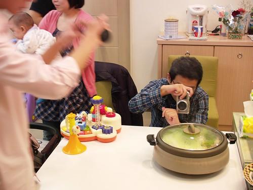 壽喜燒準備中