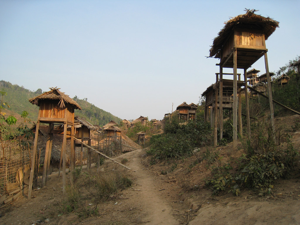 Love shacks at Akha village